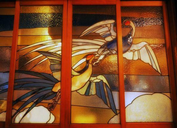 島原・きんせ旅館のステンドグラス
