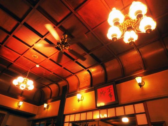 島原・きんせ旅館の天井