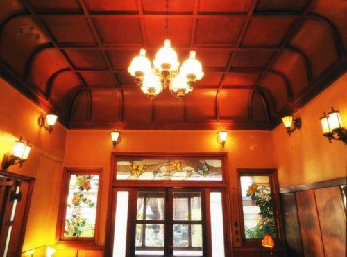 きんせ旅館カフェ店内