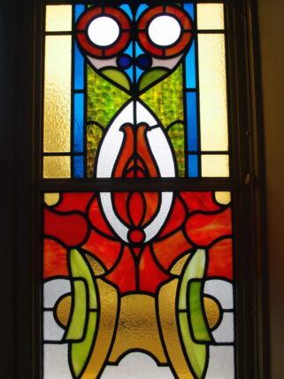 大阪市中央公会堂・特別室ステンドグラス澪標