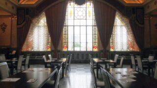 大阪市中央公会堂・特別室ステンドグラスアップ