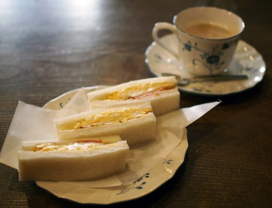 カフェ・バールこうべっこのサンドイッチモーニング