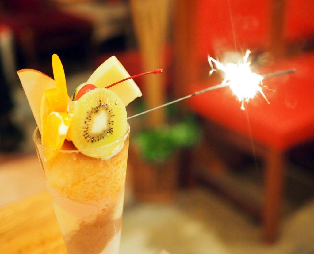 鳥取・チャップリンの花火パフェ
