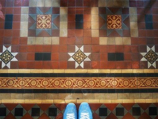 長楽館・喫煙の間の床