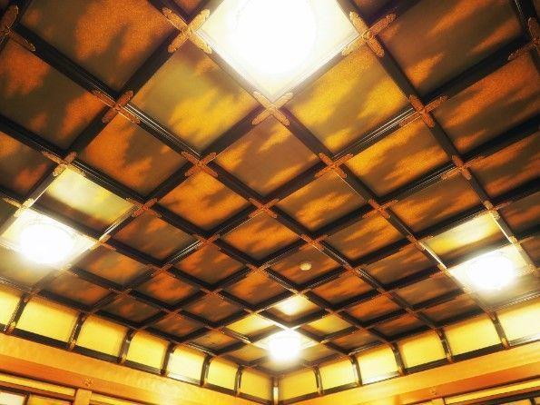 長楽館・御成の間の折上げ天井