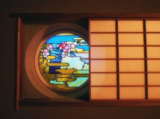 長楽館・茶室のステンドグラス
