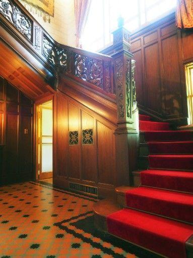 神戸・旧乾邸_住居の階段
