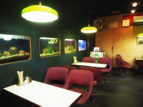 岡山・コーヒールームキャッスル_奥の水槽