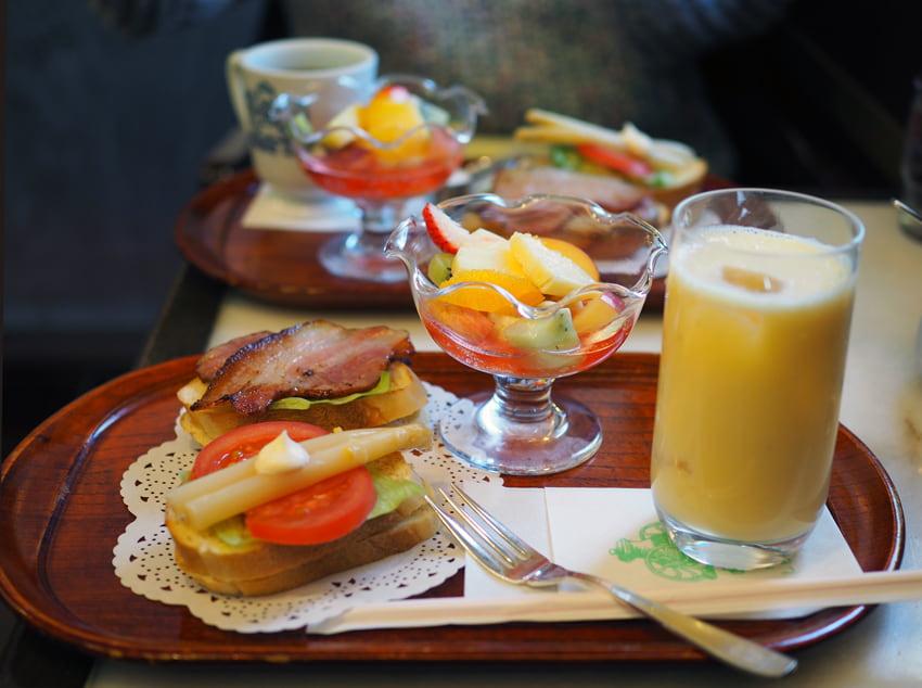 にしむら珈琲店芦屋店の朝食セット