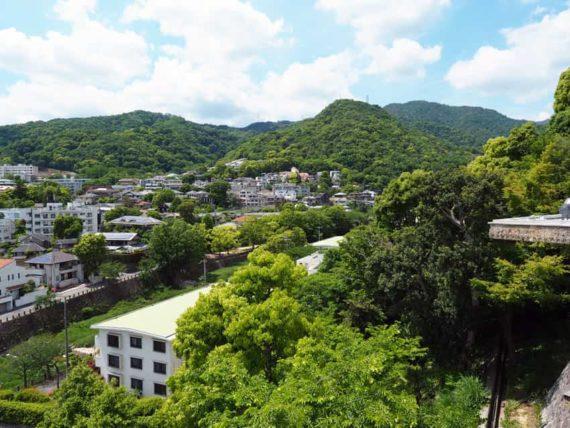 ヨドコウ迎賓館の屋上からの景色