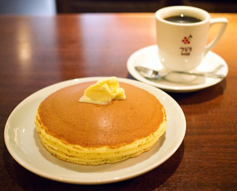 フジオ珈琲のホットケーキ