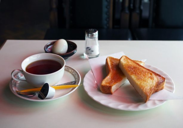 喫茶ブルボンのモーニング