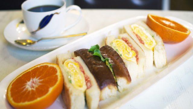 喫茶ハローのサンドイッチ