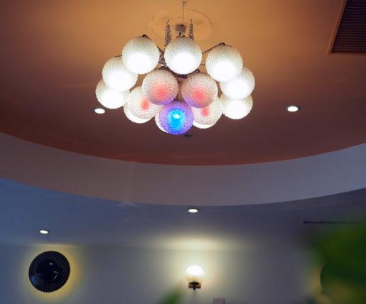 喫茶博物館珈琲ポエムの照明