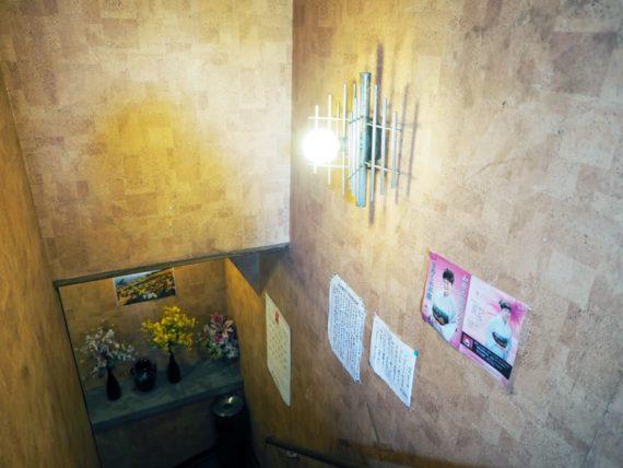 喫茶エンゼルの地下への階段