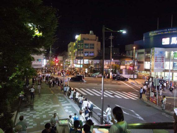 がんがら火祭り・池田駅から見たところ