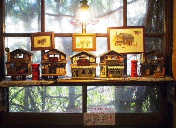純喫茶蜜に飾ってあるミニチュア模型