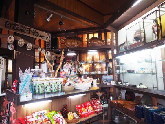 喫茶サイホンのお土産コーナー