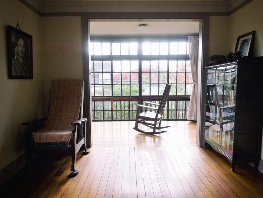 駒井家住宅の2階サンルーム