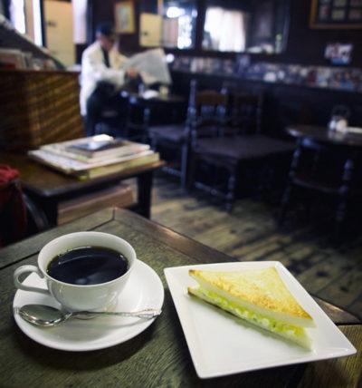 喫茶エデンのミニサンドイッチモーニング