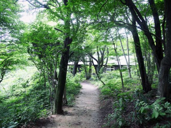 ヴォーリズ六甲山荘のアプローチ