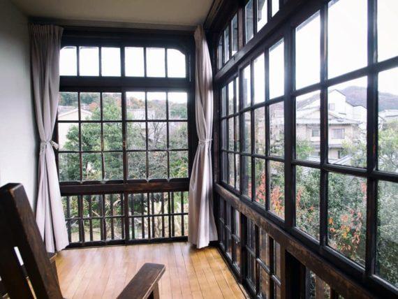 駒井家住宅の2階サンルームからの眺め