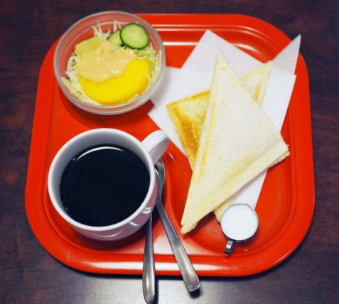 純喫茶コーヒールンバのホットサンドセット
