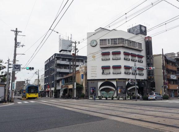 ポアール帝塚山本店と阪堺電車
