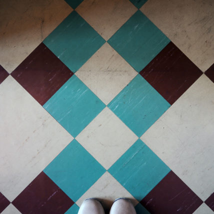 旧平賀邸の室内タイル
