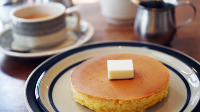 喫茶月森のホットケーキ