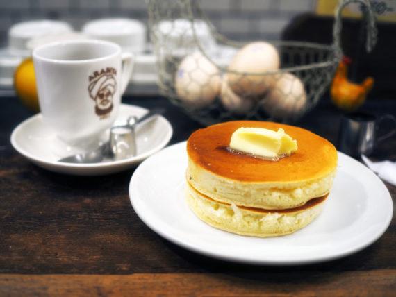 アラビヤコーヒーのホットケーキセット