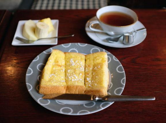 喫茶菊のフレンチトーストモーニング