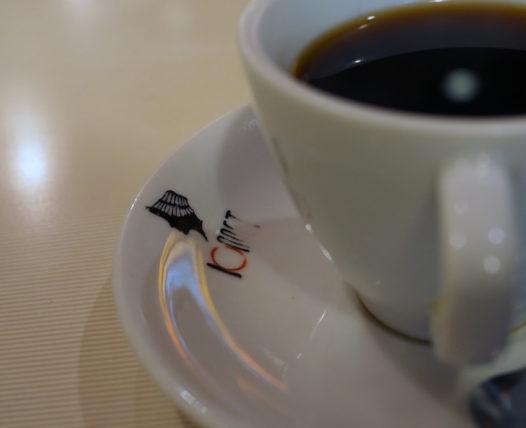 ボンネットのコーヒー皿に描かれたロゴ