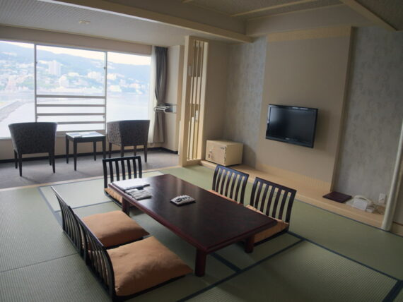 ホテルニューアカオ・宿泊した和室