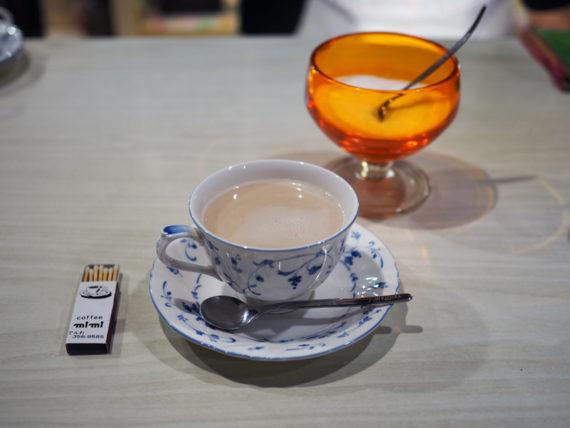 喫茶ミミ・カフェオレとマッチ