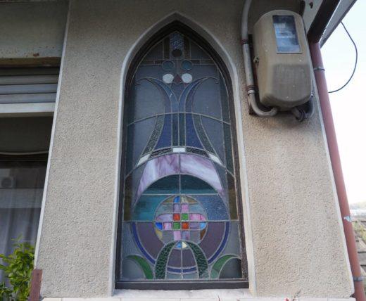 橋本遊郭・多津美旅館のステンドグラス
