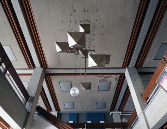 西脇市民会館・1階から見上げた照明