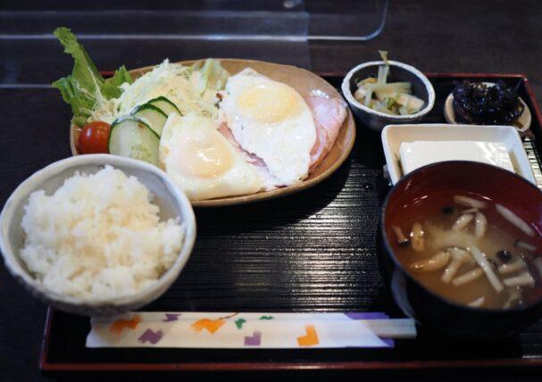 喫茶セブン・ハムエッグ定食