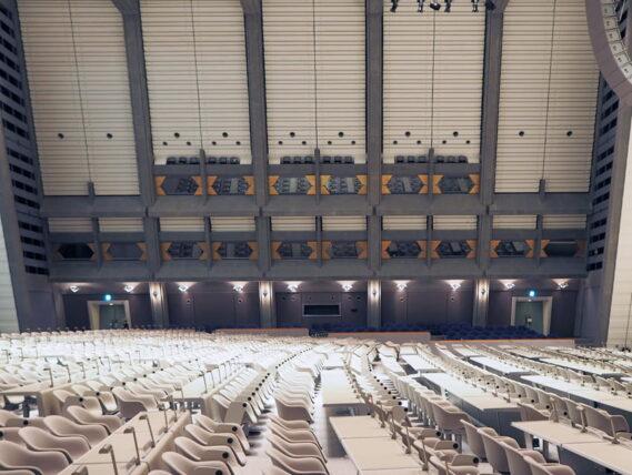京都国際会館・大会議場横から